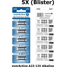 EverActive - everActive A23 23A 12V 55mAh Alkaline batteries - Other formats - BL171-CB www.NedRo.us