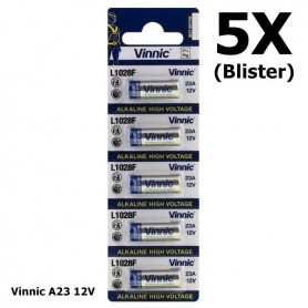 Vinnic - Blister Vinnic A23 12V Alkaline L1028F - Andere formaten - BL174-5X www.NedRo.nl