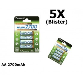 Panasonic - AA 2700mAh Panasonic Rechargeable Battery - Size AA - ON1320-5X www.NedRo.us