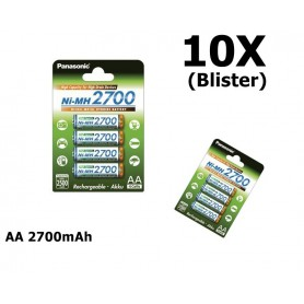 Panasonic - AA 2700mAh Panasonic Rechargeable Battery - Size AA - ON1320-10X www.NedRo.us
