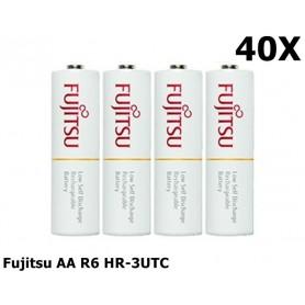 Fujitsu - Fujitsu AA R6 HR-3UTC 1900mAh Rechargeable Batteries - Size AA - NK029-40x www.NedRo.us
