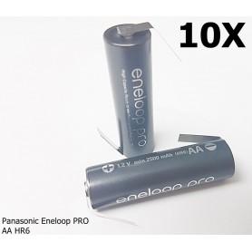 Panasonic - Eneloop PRO AA HR6 Oplaadbare met Z-Soldeerlippen - AA formaat - NK124-10x www.NedRo.nl