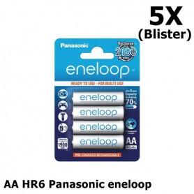 Eneloop - AA HR6 Panasonic eneloop Oplaadbare Batterij - AA formaat - ON1312-5X www.NedRo.nl