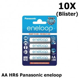 Panasonic - AA HR6 Panasonic eneloop Oplaadbare Batterij - AA formaat - ON1312-10X www.NedRo.nl