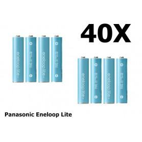 Panasonic - AA R6 Panasonic Eneloop Lite Oplaadbare Batterijen - AA formaat - NK120-40x www.NedRo.nl
