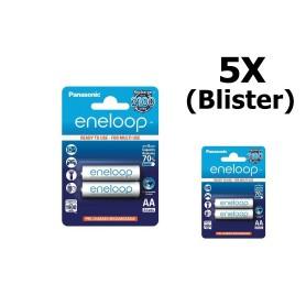Eneloop - AA Panasonic eneloop Oplaadbare Batterij AA HR6 - AA formaat - ON1311-5x www.NedRo.nl