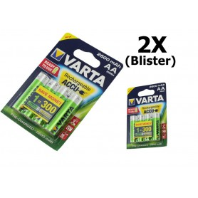 Varta - Varta Rechargeable Battery AA HR6 2600mAh - Size AA - ON1325-2x www.NedRo.us