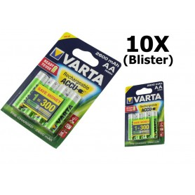 Varta - Varta Rechargeable Battery AA HR6 2600mAh - Size AA - ON1325-10x www.NedRo.us