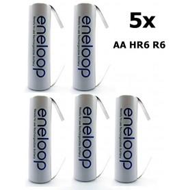 NedRo - Eneloop Batterij AA HR6 R6 met U-soldeerlipjes - AA formaat - NK010-5x www.NedRo.nl