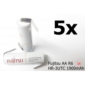 Fujitsu - Fujitsu AA R6 HR-3UTC 1900mAh - AA formaat - NK123-5x www.NedRo.nl