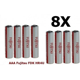 Fujitsu - AAA Fujitsu FDK HR4U Rechargeable Battery 1000mAh - Size AAA - ON1310-8x www.NedRo.us