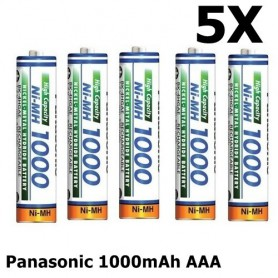 Panasonic - Panasonic 1000mAh AAA Rechargeable Battery NiMH - Format AAA - ON1321-5x www.NedRo.ro
