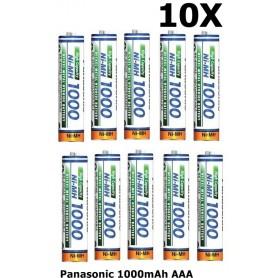 Panasonic - Panasonic 1000mAh AAA oplaadbare batterij NiMH - AAA formaat - ON1321-10x www.NedRo.nl