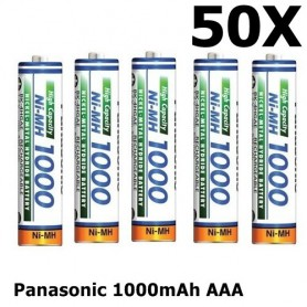 Panasonic - Panasonic 1000mAh AAA Rechargeable Battery NiMH - Format AAA - ON1321-50x www.NedRo.ro