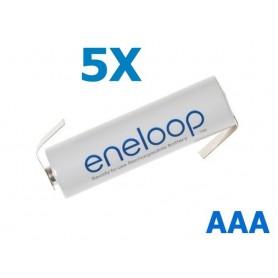 Panasonic - Eneloop Batterij AAA R3 met soldeerlipjes - AAA formaat - NK004-5X www.NedRo.nl