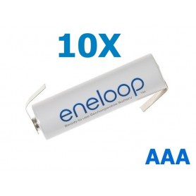 Eneloop - Eneloop Batterij AAA R3 met soldeerlipjes - AAA formaat - NK004-10X www.NedRo.nl