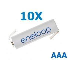 Panasonic - Eneloop Batterij AAA R3 met soldeerlipjes - AAA formaat - NK004-10X www.NedRo.nl