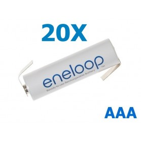 Eneloop - Panasonic Eneloop AAA R3 battery with tags - Size AAA - NK004-20x www.NedRo.us