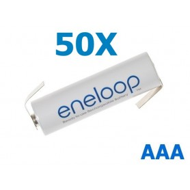 Panasonic - Panasonic Eneloop AAA R3 battery with tags - Size AAA - NK004-50x www.NedRo.us