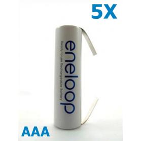 Eneloop - Panasonic Eneloop AAA R3 cu urechi de lipire - Format AAA - NK188-5X www.NedRo.ro