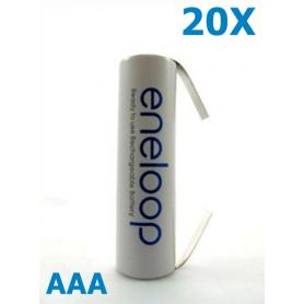 Eneloop - Panasonic Eneloop AAA R3 cu urechi de lipire - Format AAA - NK188-20x www.NedRo.ro