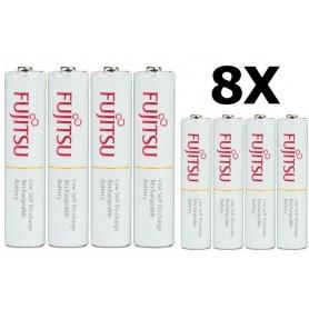 Fujitsu - Fujitsu AAA R3 HR-4UTC 800mAh Rechargeable Batteries - Size AAA - NK028-8x www.NedRo.us