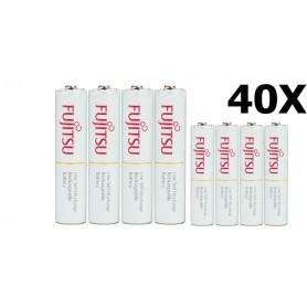 Fujitsu - Fujitsu AAA R3 HR-4UTC 800mAh Rechargeable Batteries - Size AAA - NK028-40x www.NedRo.us