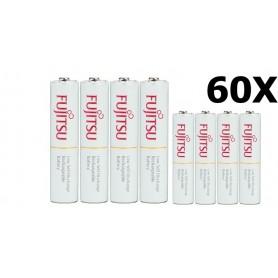 Fujitsu - Fujitsu AAA R3 HR-4UTC 800mAh Rechargeable Batteries - Size AAA - NK028-C www.NedRo.us