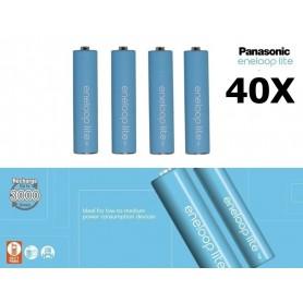 Panasonic - AAA R3 Panasonic Eneloop Lite 1.2V 550mAh Oplaadbare Batterijen - AAA formaat - NK037-40x www.NedRo.nl