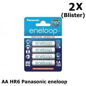 Eneloop - AA HR6 Panasonic eneloop Oplaadbare Batterij - AA formaat - NK267-2x www.NedRo.nl