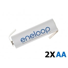 Eneloop - Eneloop Batterij AA HR6 R6 met Z-soldeerlipjes - AA formaat - NK003-2x www.NedRo.nl