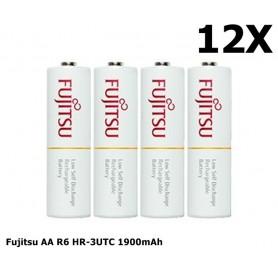 Fujitsu - Fujitsu AA R6 HR-3UTC 1900mAh Rechargeable Batteries - Size AA - NK029-12x www.NedRo.us