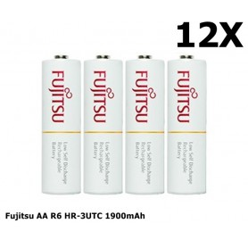 Fujitsu - Fujitsu AA R6 HR-3UTC 1900mAh Rechargeable Batteries - Size AA - NK029-CB www.NedRo.us