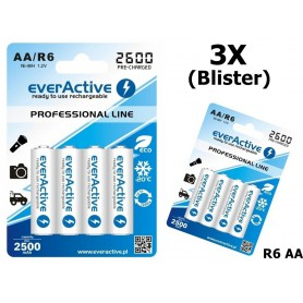 EverActive - Baterii reîncărcabile R6 AA 2600mAh everActive Professional - Format AA - BL156-CB www.NedRo.ro