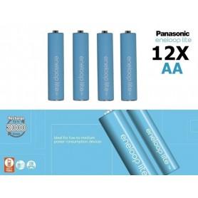 Eneloop - AA R6 Panasonic Eneloop Lite 1.2V 1000mAh Oplaadbare Batterijen - AA formaat - NK120-12x www.NedRo.nl