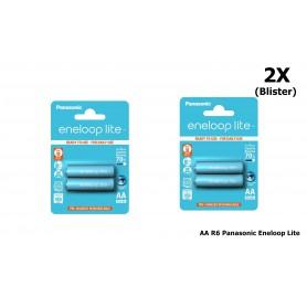 Panasonic - AA R6 Panasonic Eneloop Lite Oplaadbare Batterijen - AA formaat - NK036-2x www.NedRo.nl