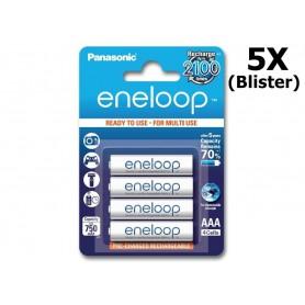 Panasonic - AAA R3 Panasonic Eneloop Oplaadbare Batterijen - AAA formaat - NK053-5x www.NedRo.nl