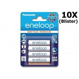 Panasonic - AAA R3 Panasonic Eneloop Oplaadbare Batterijen - AAA formaat - NK053-10x www.NedRo.nl
