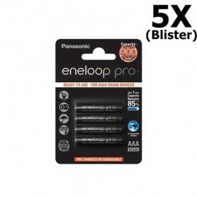 Eneloop - AAA Rechargeable Panasonic eneloop Pro Battery - Size AAA - ON1317-5x www.NedRo.us
