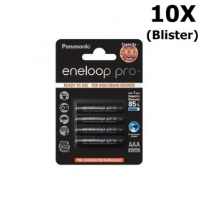 Eneloop - AAA Panasonic eneloop Pro Oplaadbare Batterij - AAA formaat - ON1317-10x www.NedRo.nl