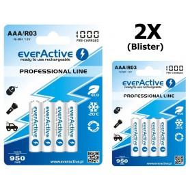 EverActive - everActive Ni-MH R03 AAA 950mAh Professional Line - Format AAA - BL168-2x www.NedRo.ro