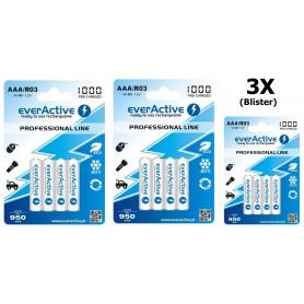 EverActive - everActive Ni-MH R03 AAA 950mAh Professional Line - Format AAA - BL168-3x www.NedRo.ro