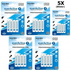EverActive - everActive Ni-MH R03 AAA 950mAh Professional Line - AAA formaat - BL168-CB www.NedRo.nl