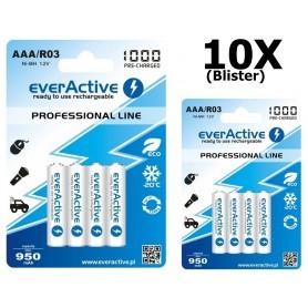 EverActive - everActive Ni-MH R03 AAA 950mAh Professional Line - Format AAA - BL168-10x www.NedRo.ro