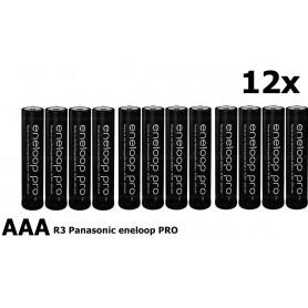 Eneloop - AAA R3 Panasonic Eneloop PRO Rechargeable Battery - Size AAA - NK055-12x www.NedRo.us