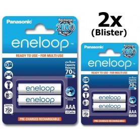 Panasonic - 2x AAA R3 Panasonic Eneloop Oplaadbare Batterijen - AAA formaat - BL121-2x www.NedRo.nl