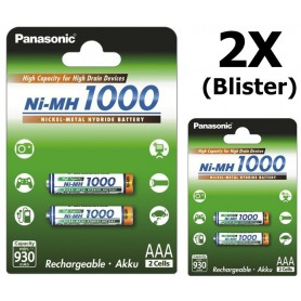Panasonic - Panasonic 1000mAh AAA oplaadbare batterijen NiMH - AAA formaat - BL109-2x www.NedRo.nl