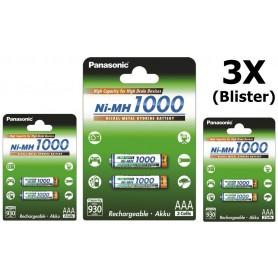 Panasonic - Panasonic 1000mAh AAA oplaadbare batterijen NiMH - AAA formaat - BL109 www.NedRo.nl