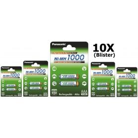 Panasonic - Panasonic 1000mAh AAA Rechargeable Battery NiMH - Size AAA - BL109-10x www.NedRo.us