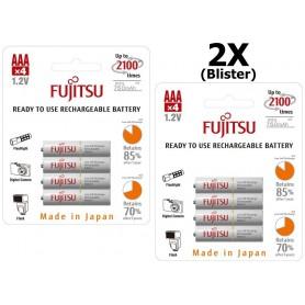 Fujitsu - Fujitsu AAA R3 HR-4UTC 800mAh Rechargeable Batteries - Size AAA - BL213-2x www.NedRo.us